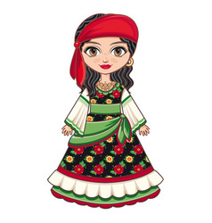 gypsy girl historic clothes vector image