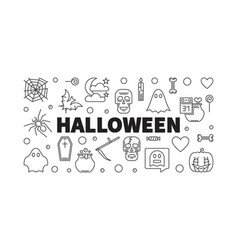halloween horizontal holiday outline vector image