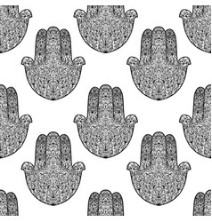 hamsa pattern fatimas hand seamless background vector image