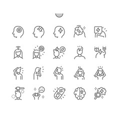 headache well-crafted pixel perfect vector image