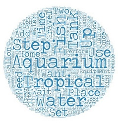 How to setup a freshwater tropical fish tank text vector