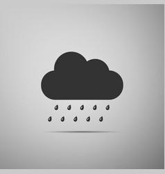 icon isolated on grey background flat design vector image