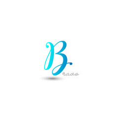 initial letter b graphic design vector image