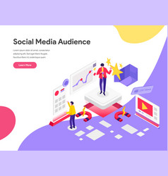 landing page template reach social media vector image