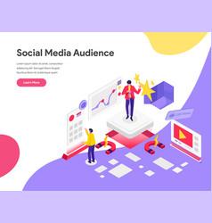 Landing page template reach social media vector