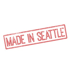 Made in Seattle red rubber stamp on white vector image