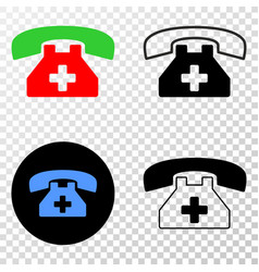 medical phone eps icon with contour version vector image
