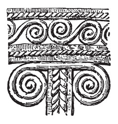 Mycenaean decoration is a band winding vintage vector