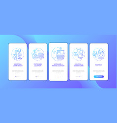 office ergonomics tips onboarding mobile app page vector image