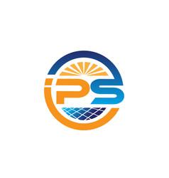 P s power cell solar logo designs solutions vector
