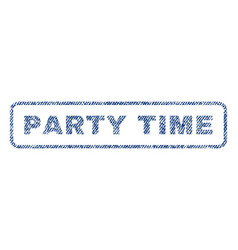 party time textile stamp vector image