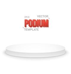Photorealistic Winner Podium Stage Template vector