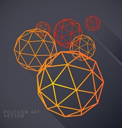 Polygon spheres vector image
