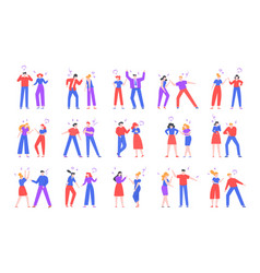 quarrel people crier characters swearing friends vector image