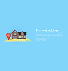 real estate concept with house for sale and rent vector image