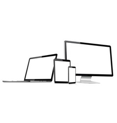 responsive web design modern digital devices vector image