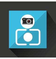 Retro camera photographic vector