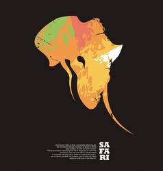 safari travel poster design vector image