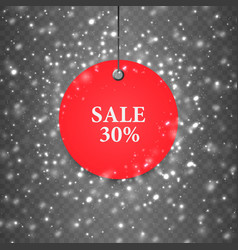 sale texture snow bokeh holiday background winter vector image
