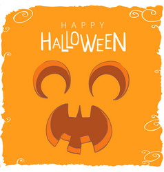 Screaming pumpkin face for halloween vector