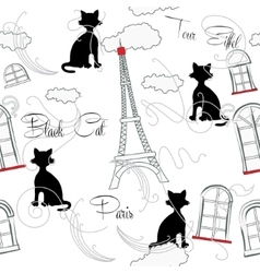 Seamless pattern with Paris and music-08 vector