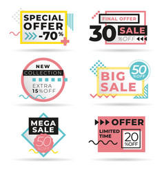 set modern abstract banners vector image