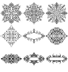 Set of 9 Ornamental Design Elements vector image