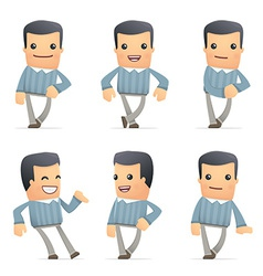 Set of customer character in different poses vector