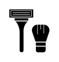 shaving machine icon black vector image