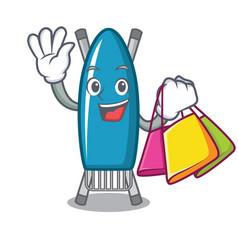 Shopping iron board character cartoon vector