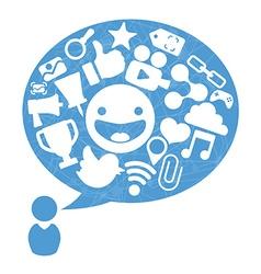 Social media design vector