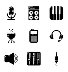 sound producing icons set simple style vector image