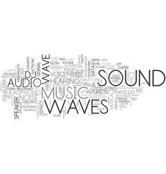Sound word cloud concept vector
