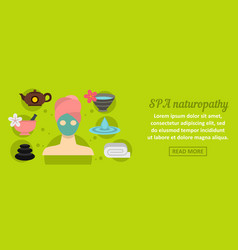 spa naturopathy banner horizontal concept vector image