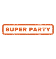 Super Party Rubber Stamp vector image