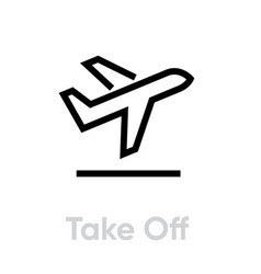 take off airplane icon editable line vector image