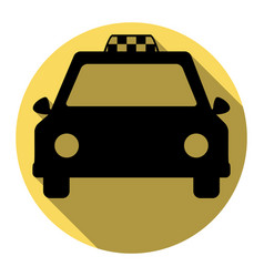 taxi sign flat black icon vector image