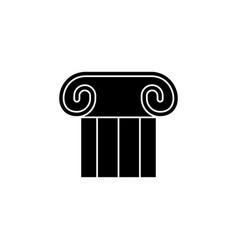 theatre pillar icon black filled theatre pillar vector image
