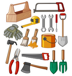 Toolbox and many tools vector