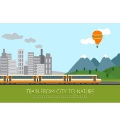 Train on railway vector image