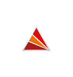 triangle shape abstract business logo vector image