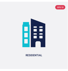 Two color residential icon from future technology vector
