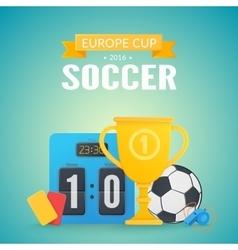 UEFA Euro 2016 background vector image