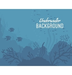 Underwater background template vector image