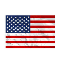 Usa flag painted on crumpled paper american flag vector