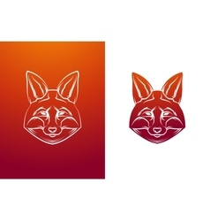 Vintage fox label Retro design graphic vector image