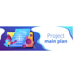 Vision and scope document concept banner header vector
