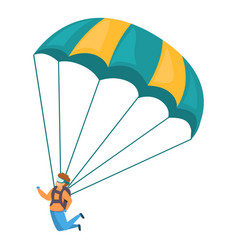 young skydiver icon cartoon style vector image