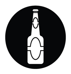 Beer bottle icon vector