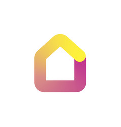 house logo icon in colorful gradient design vector image